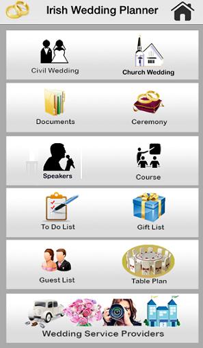 Wedding Planner App.Irish Wedding Planner App